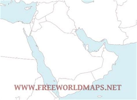 Gcc Countries Map Outline by Middle East Map Pdf Middle East Map