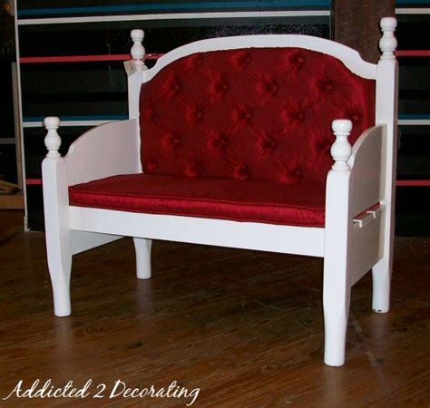 the homestead jones bench made from a headboard and footboard