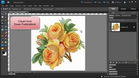 create pattern in photoshop elements photoshop elements make a floral pattern from clipart