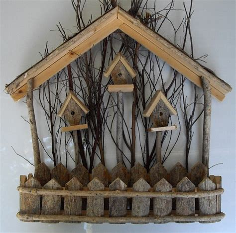 Birdhouse Decor by Rustic Vintage Wood Birdhouse Wall Decor By