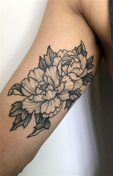 tattoo designs melbourne peonies by perry smick heretic in