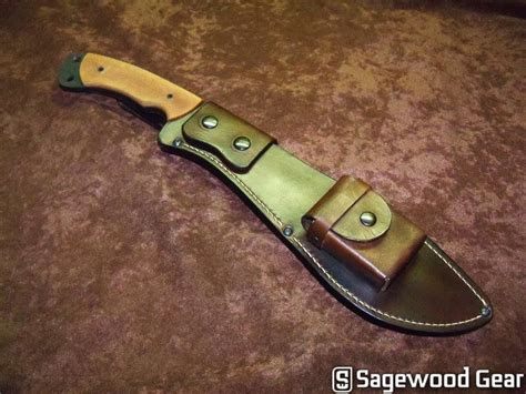 custom kukri sheath sagewoodgear custom kukri sheath knife tool designs