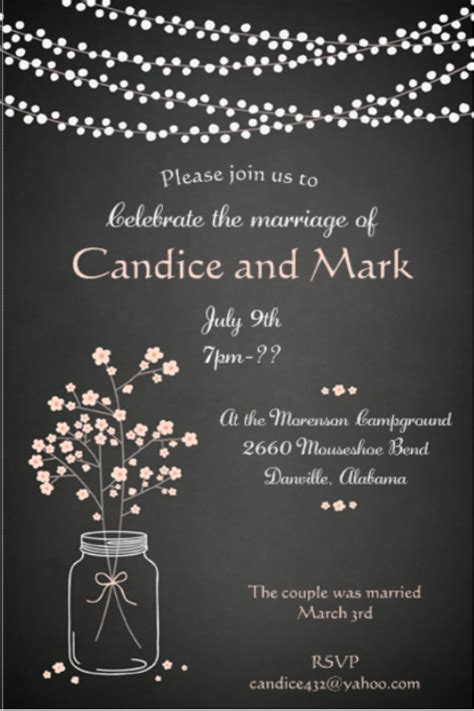 Wedding Announcements After Eloping by Elopement Invitations Reception Only Invitations