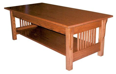 Amish Prairie Mission Rectangular Coffee Table Amish Coffee Table
