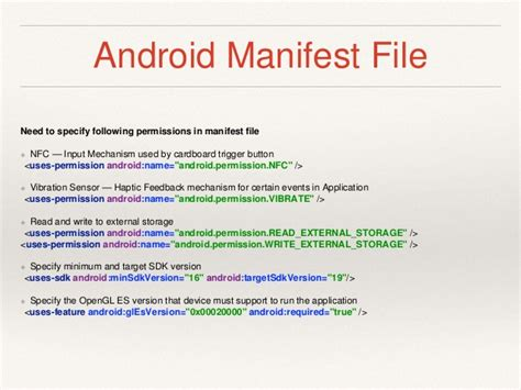 android manifest permission reality application development on android using cardb