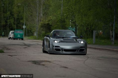 mazda rx7 front bumper mazda rx7 rz with a front bumper from a porsche 997