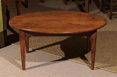 oval cherry coffee table at 1stdibs
