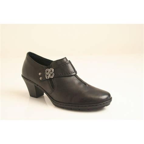 rieker rieker black soft leather high cut shoe with a