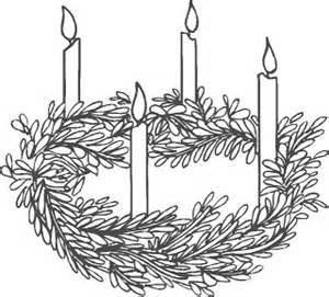 advent wreath black white clipart clipart suggest