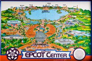 1982 epcot center fold out map picture taken on oct 1