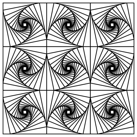 Optical Illusions Coloring Pages free coloring pages of math optical illusion