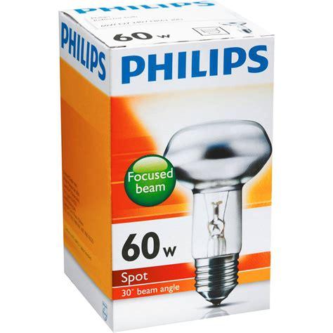 Lu Philips Spot 60w philips reflector r63 globe 60w es base each woolworths