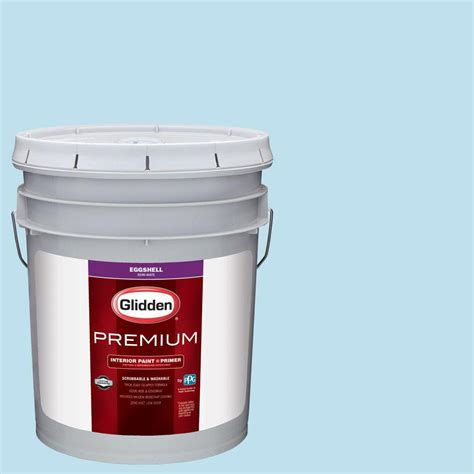 glidden premium 5 gal hdgb44 clear blue sky eggshell interior paint with primer hdgb44p 05en