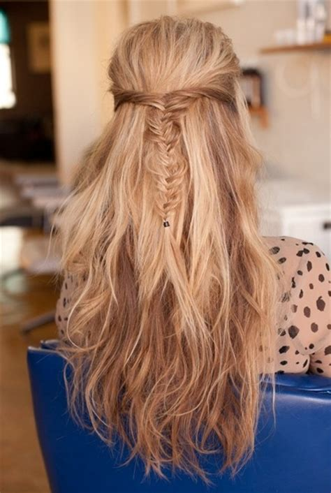 hairstyles half up half down with braids messy fishtail braid half up half down hairstyles long