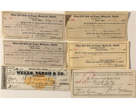 Idaho Background Check Idaho Checks And Receipts Incl Territorial Holabird Western Americana Collections