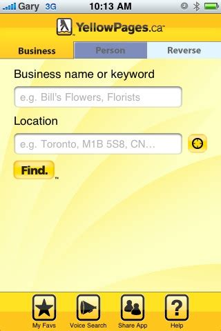Www Yellowpages Ca Lookup Updated Yellowpages Ca Iphone App Is Worthy Iphone In Canada