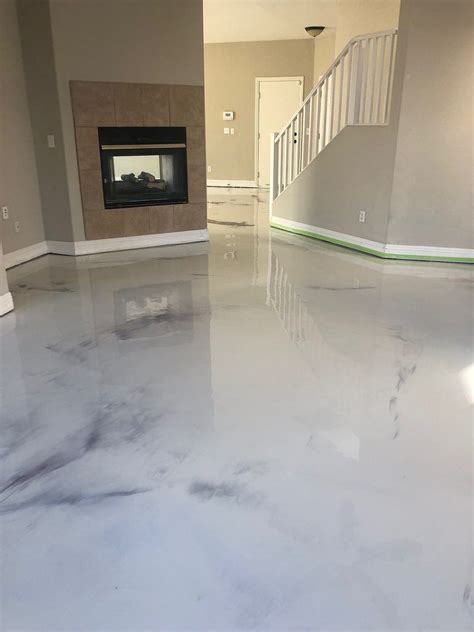 metallic marble epoxy las vegas nv concrete stained floors