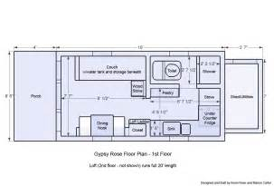 tiny house plans wheels gypsy rose floor plan small big living hgtv