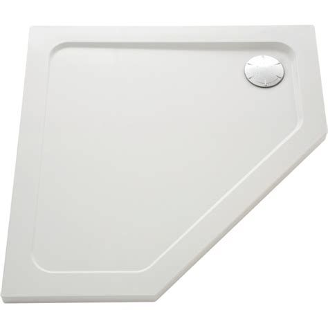 Pentangle Shower by Mira Flight Pentangle Low Shower Tray 1200mm X 900mm Right