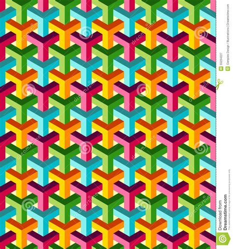 3d Abstract Pattern Pouch Graph abstract isometric 3d colorful pattern background stock