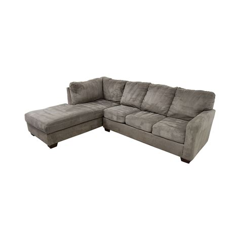living spaces chaise sofa 56 off living spaces living spaces zella charcoal