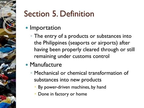 definition of sectioned ppt republic act no 6969 toxic substances and hazardous