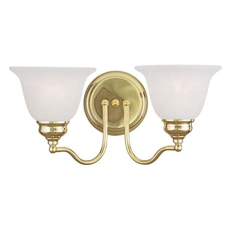 brushed brass bathroom lighting livex lighting providence 2 light polished brass