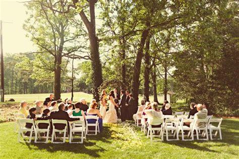 real backyard weddings real weddings courtney michael s backyard poolside wedding