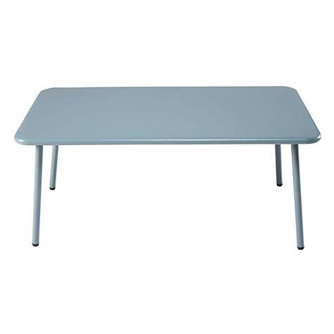 Table Metal Jardin by Table Basse De Jardin Rectangulaire En M 233 Tal Bleu Clair