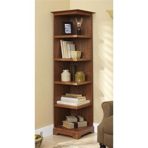 Corner Bookcase Woodworking Plan From Wood Magazine Build Corner Bookcase