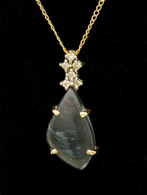 Black Opal 3 3ct black solid opal pendant 3ct lp141