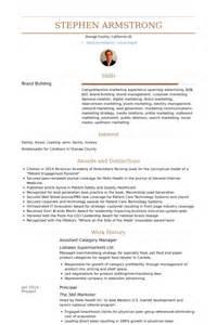 category manager resume sles visualcv resume sles