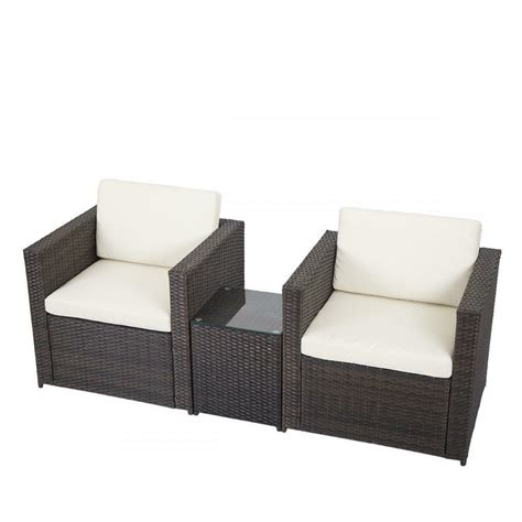 Sofa Outdoor Furniture by 3 Pcs Outdoor Patio Sofa Set Sectional Furniture Pe Wicker