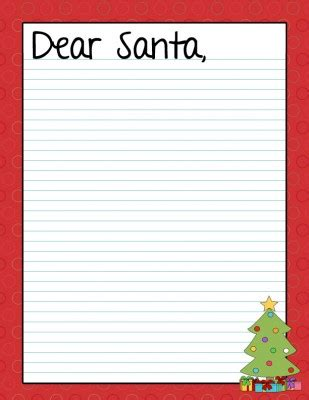 printable dear santa letters templates wednesday workout wish list runaissance mom