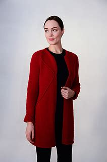 ravelry: coat of angled cables pattern by lidia karabinech