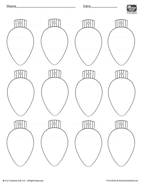 christmas lights printablecoloring page worksheet or