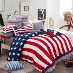 american flag white blue comforter bedding sets