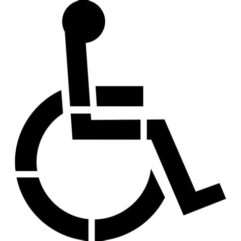 disabled parking template stencil ease 42 in one part handicap stencil cc0077a42