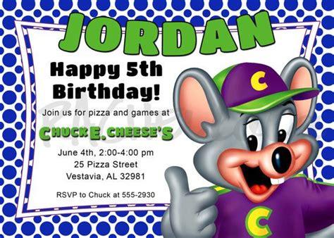 printable birthday invitations chuck e cheese chuck e cheese birthday party invitation diy printable