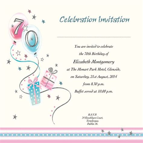 Printable 70th Birthday Cards 104 Best Images About 70th Birthday Party Card On