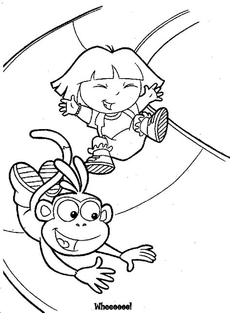 dora the explorer coloring pages 4 my klein hexa