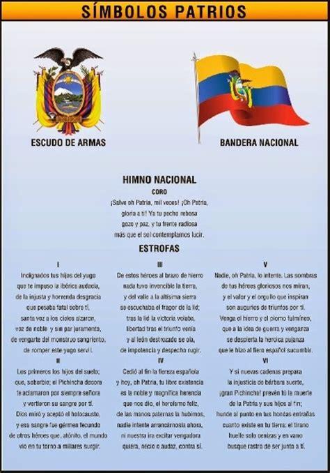 himno nacional del ecuador historia del ecuador enciclopedia del mi pais ecuador simbolos patrios
