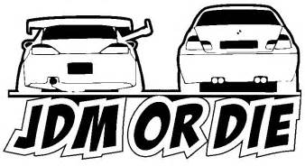 car stickers jdm or die 25cm x 12cm car decals black