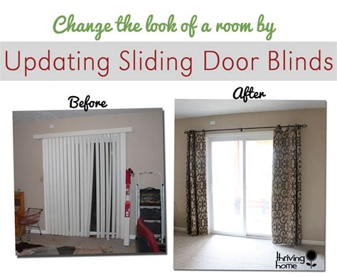 Sliding Patio Door Coverings Easy Home Update Replace Those Sliding Blinds With A Curtain Rod And Curtains Why Didn T