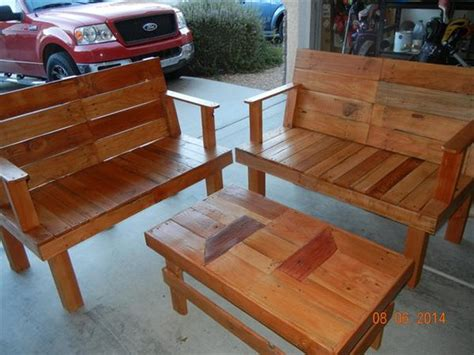 Wood Pallet Patio Furniture Plans Recycled Things Pallet Patio Furniture