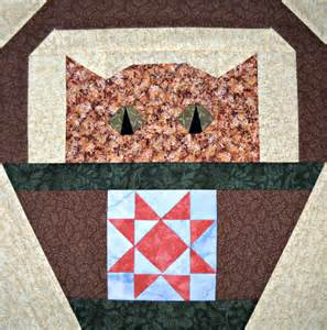 cat quilt block pattern by curlicuecreations on etsy