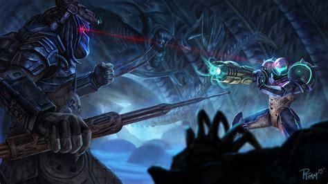 vs predator rule 34 facehugger predator samus aran and