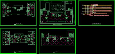 residential fire alarm system dwg full project  autocad