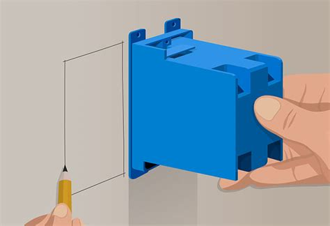 how to install electrical outlet box in drywall