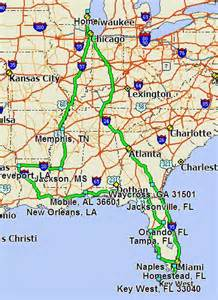 map from indiana to florida florida 2013